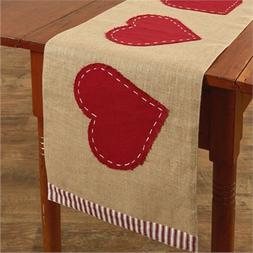 Jute Table Runner Red Heart Country Farmhouse Valentines Kit