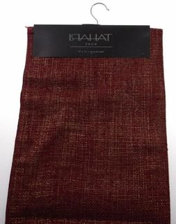 """Kitchen Table Runner Tahari Home Red Gold 14""""x72"""" Party Wedd"""