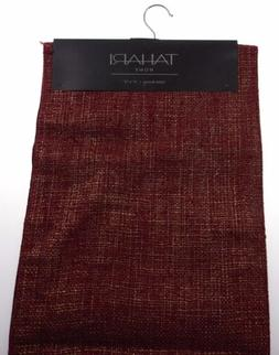 "Kitchen Table Runner Tahari Home Red Gold 14""x72"" Party Wedd"