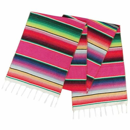 Mexican Runners Serape Tablecloth for Wedding Fiesta Party