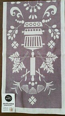 "100% Cotton Tinas Kurbits 13 Purple and Gray Runner 14"" x 47"