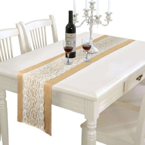 10×Burlap Table Runner Rustic Party Banquet