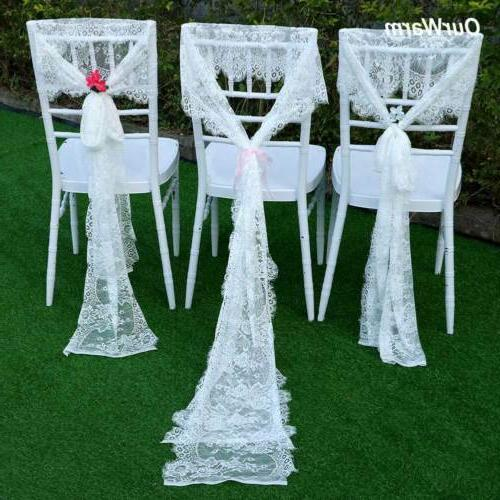 10Pcs Floral Table Runner White Lace Tablecloth Boho Wedding