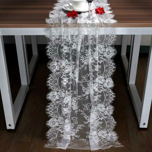 10Pcs Table White Tablecloth Wedding Home Table