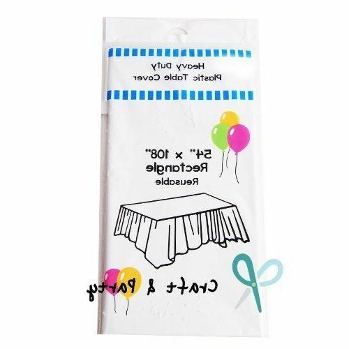 12 pack heavy duty plastic table covers