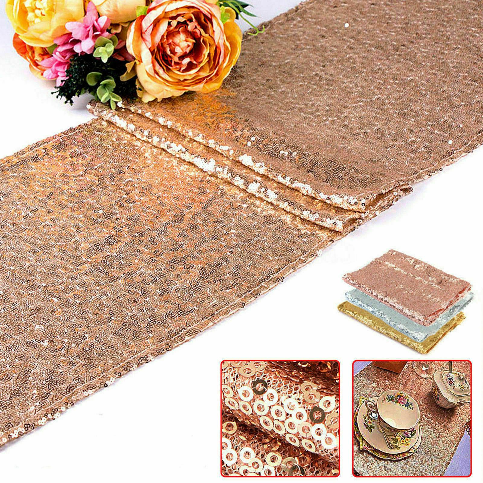 "Rose Gold Wedding Decorations 12""x72''"