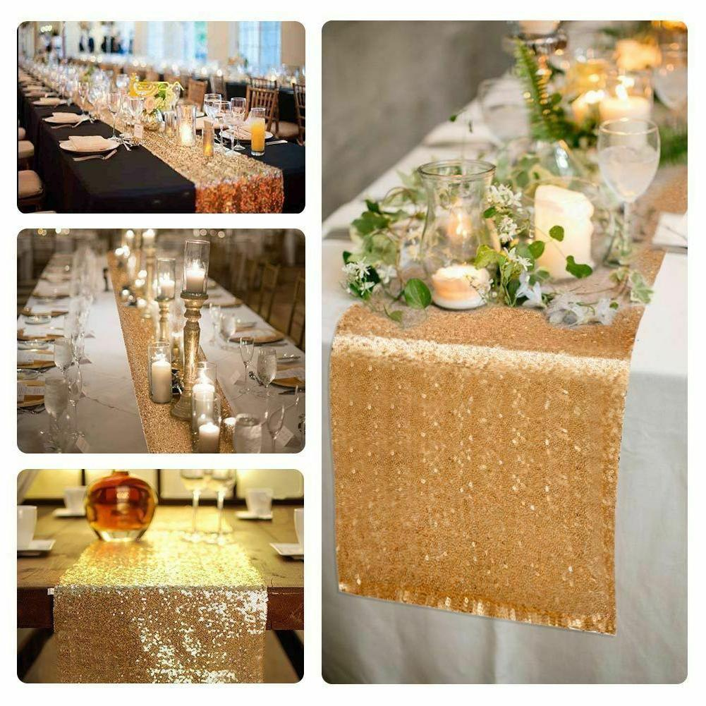 """12"""" 72"""" Sequin Tablecloth Party"""