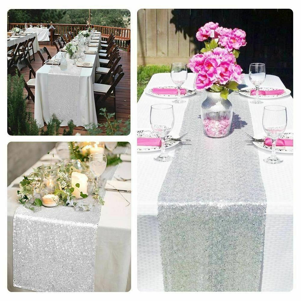 """12"""" x 72"""" Tablecloth Runner Party Banquet"""