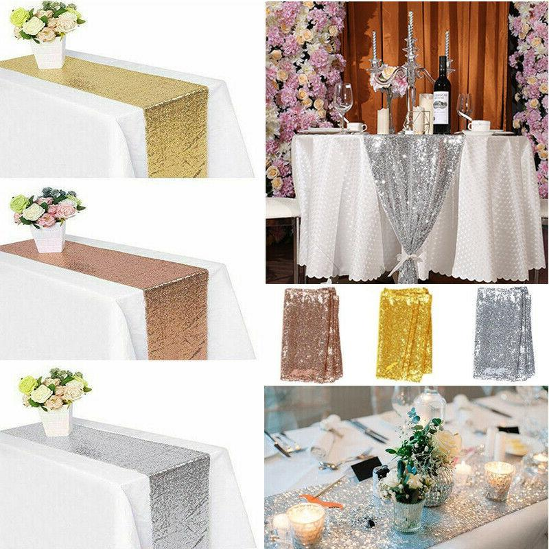 12 x 72 sequin tablecloth table runner