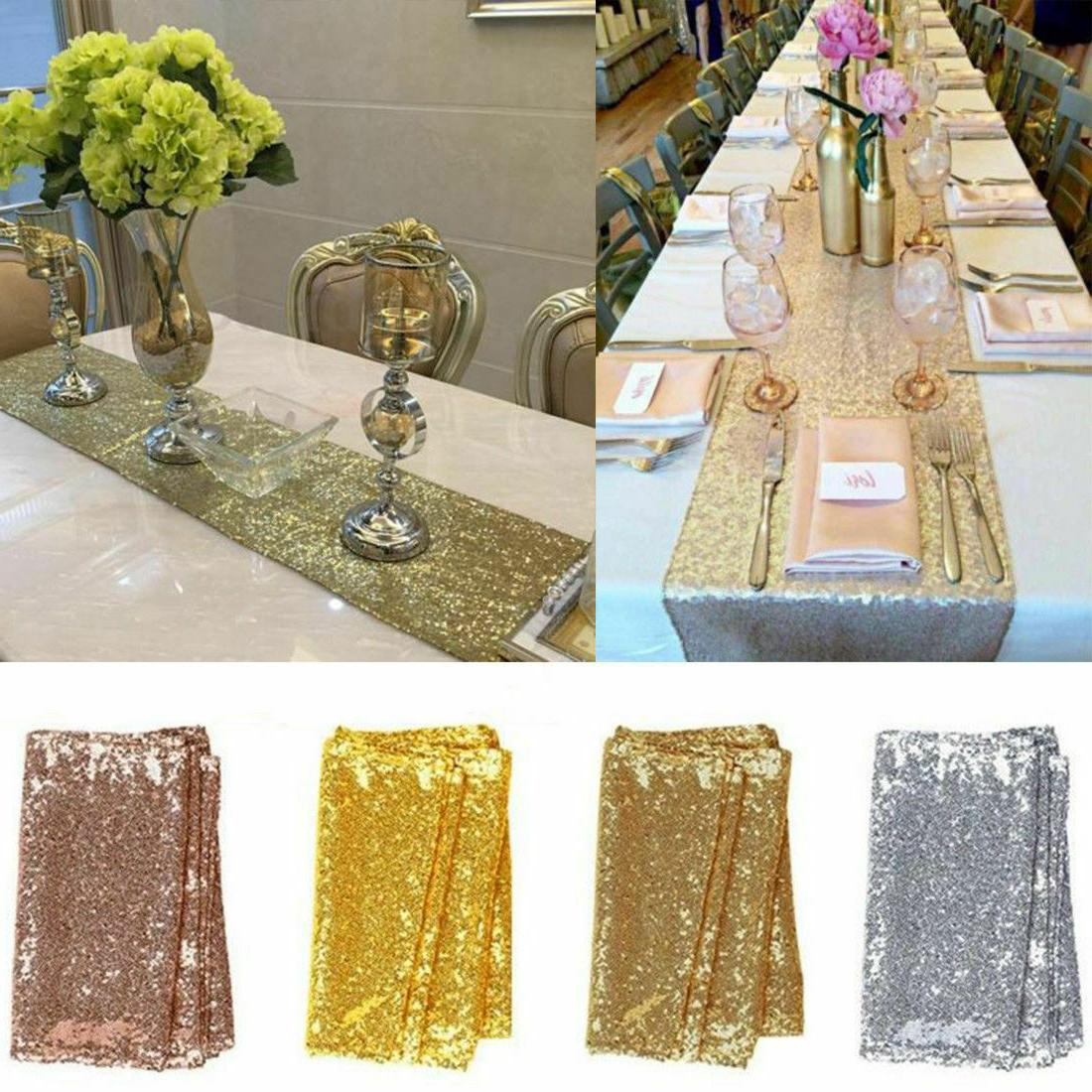12 x 72 sparkly sequin table runner