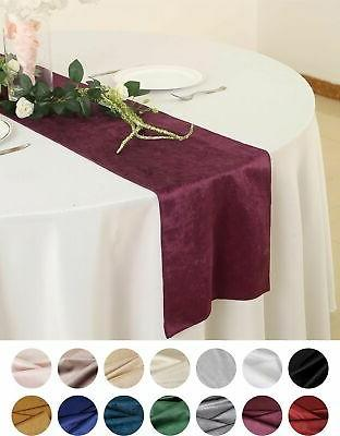 12 x107 premium velvet table runner wedding