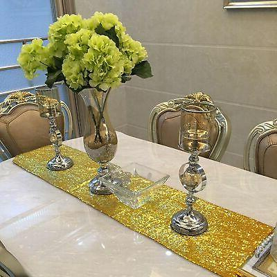 """12"""" 72"""" Sequin Table for Party Banquet Wedding"""