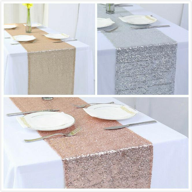 12 x72 sequin table runner sparkly table