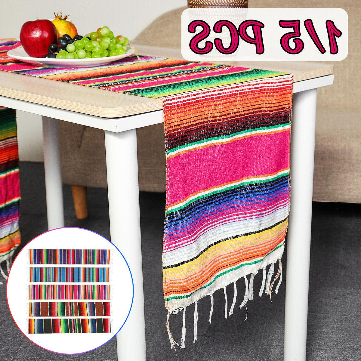 14x84'' Runner Serape Tablecloth Mubarak Decor
