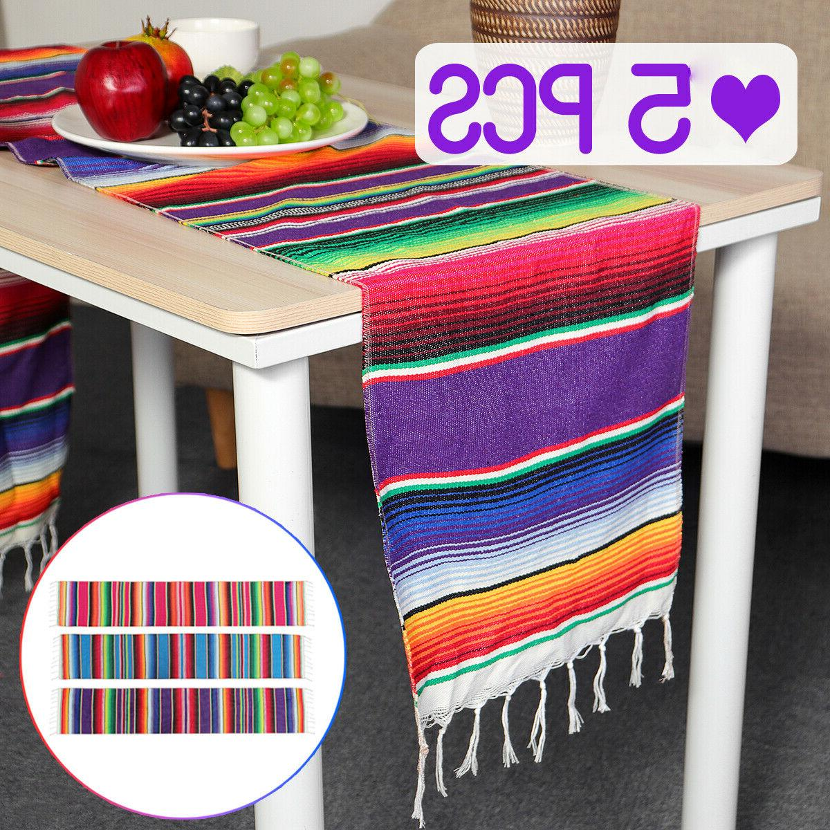 14x84 mexican table runner serape tablecloth wedding