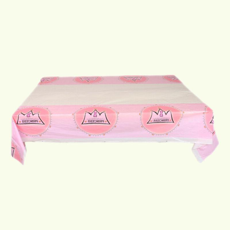2 Pcs Tablecloth Table Party Supply for