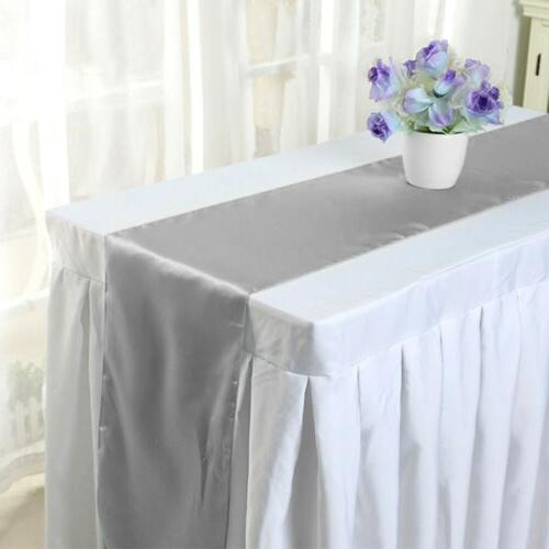 "5/10/20/30pcs 12""×108"" Satin Runner Banquet Venue"