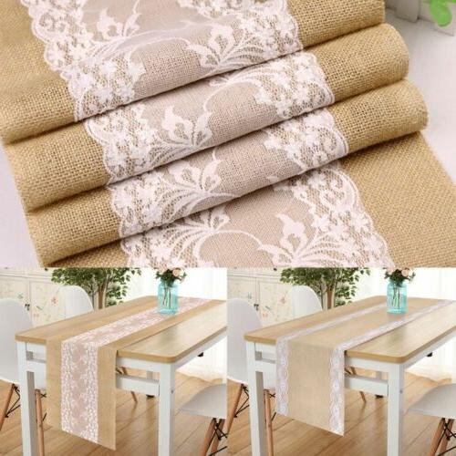 5Pcs Hessian Banquet Party