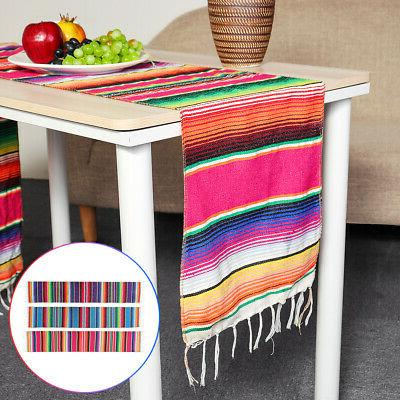 84x14'' Mexican Runner Tablecloth Cotton Festival Party Home Decor