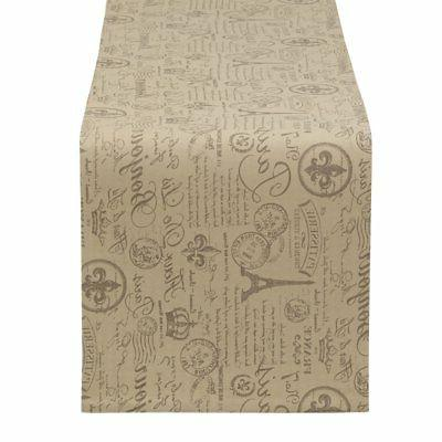 Aothpher Modern Ornate Chevron Beaded Tan Table Runner with