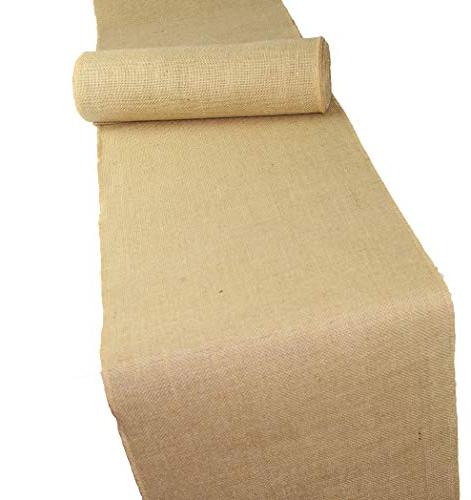 Cotton Craft - 2 Pack - Jute Burlap Table Inches Each Total 6 Yards - Burlap - Edges - Perfect for Home Décor, Projects, Weddings, Crafts Much