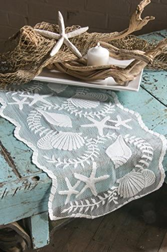 Heritage Lace Runner, by White