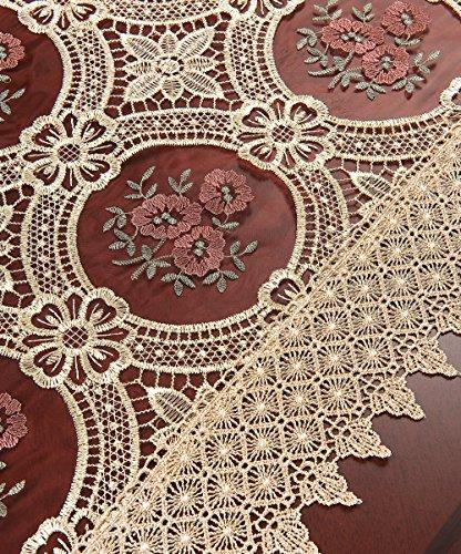 Simhomsen Vintage Gold Lace Table Dresser Embroidered 16 ×
