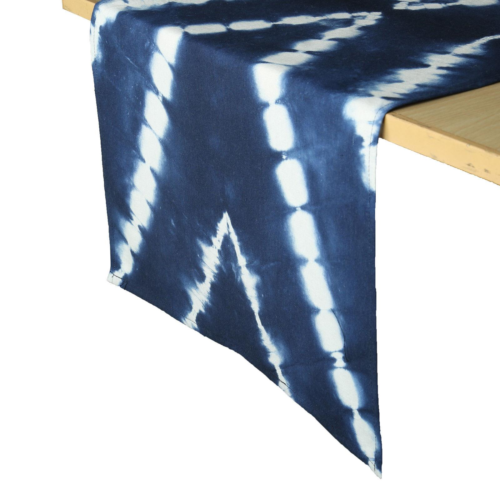 Tie Dye Dining Tablecloth Indigo Shibori Dye Decorative Tabl