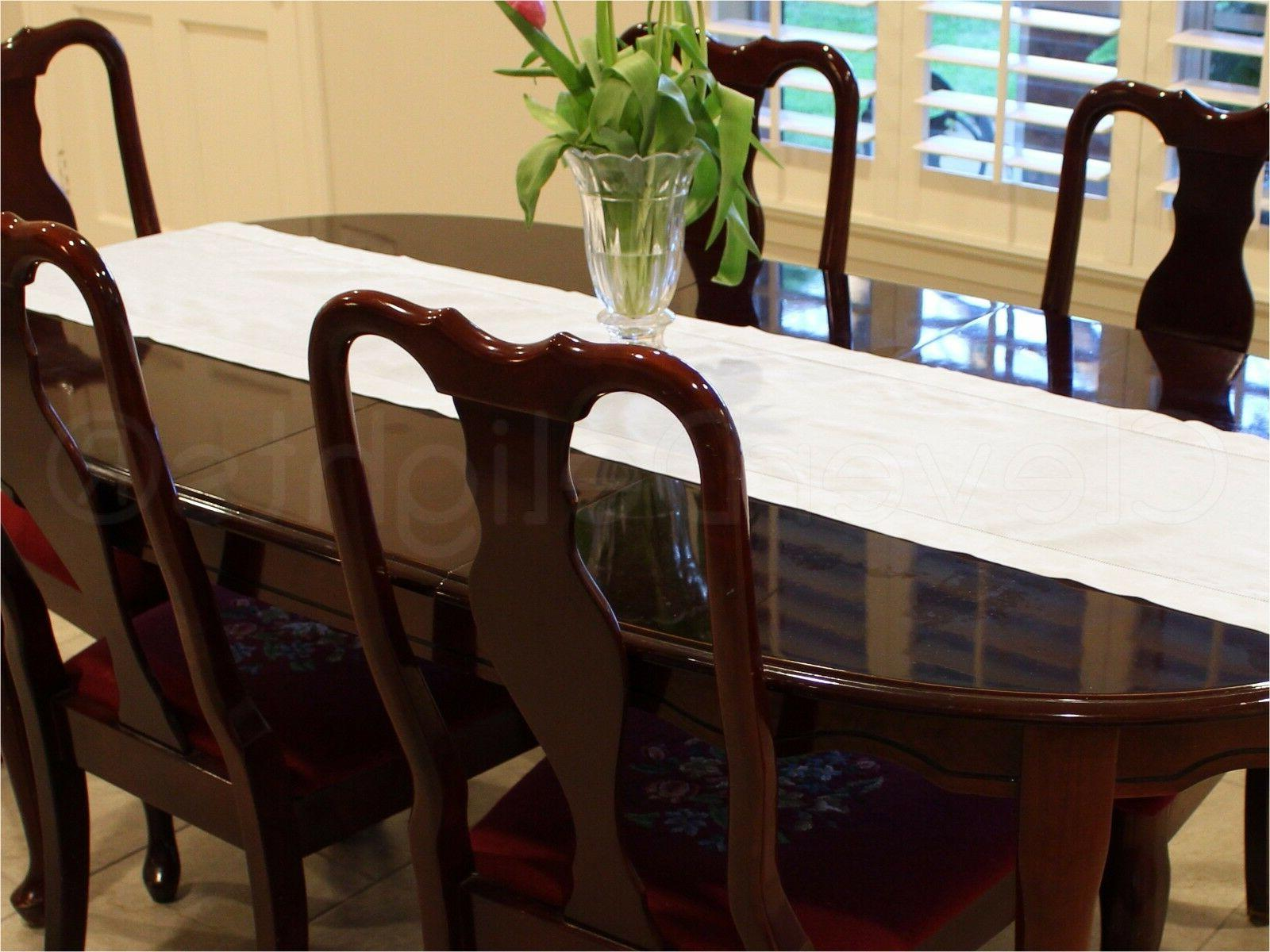 """White Linen Hemstitched Table Runner - 16"""" x 108"""" - 100% Pur"""
