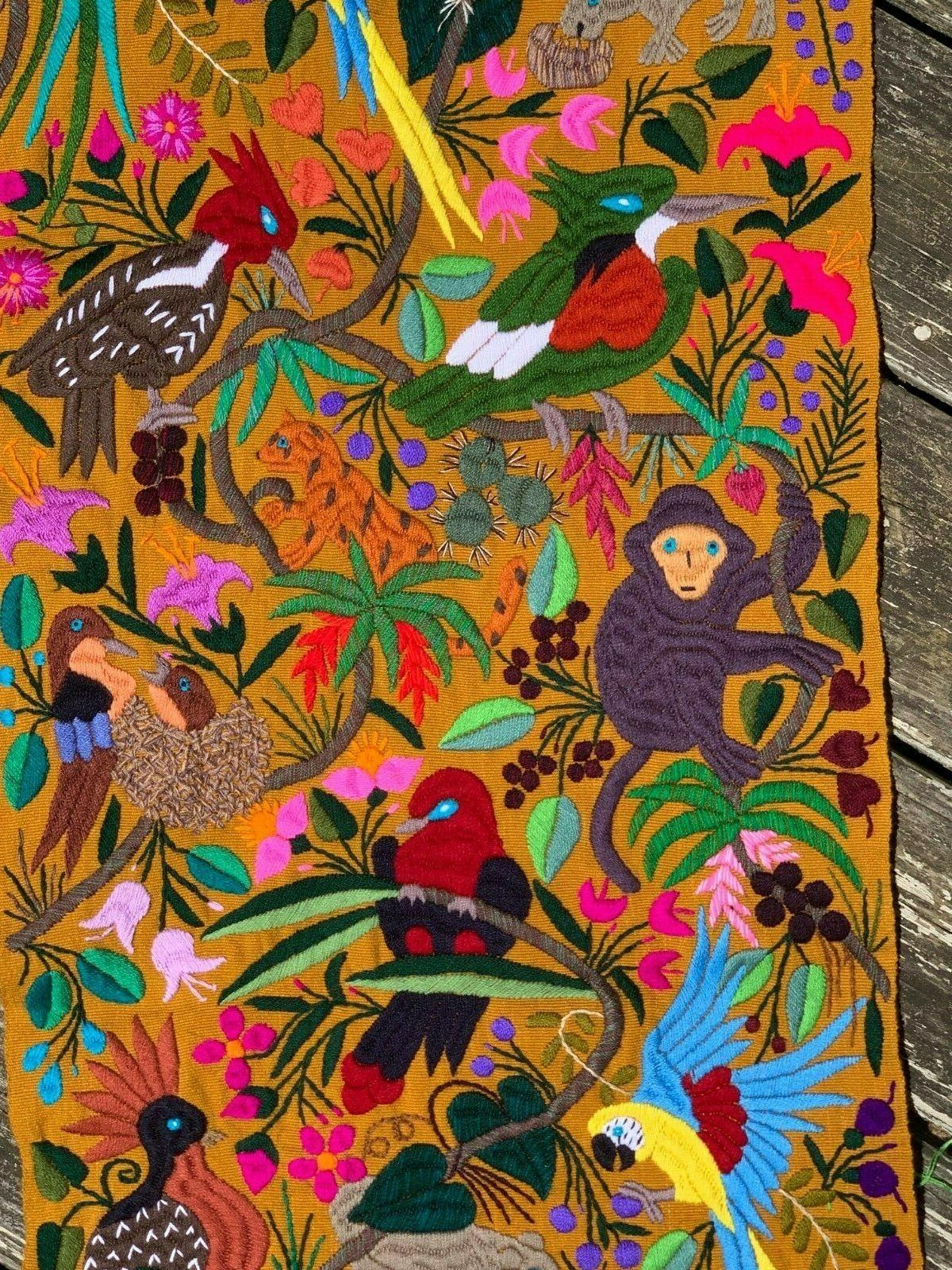 Animals Parrots Embroidered 60x16 S5