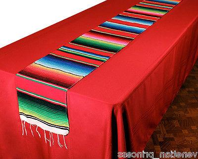 "Authentic Serape Table Runner 16"" Hand Woven SM659 NEW"