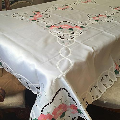 Battenburg Lace With Embroidery Table Clothes Covers