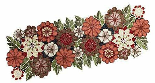 beaded table runner floral multi 13x36 inches