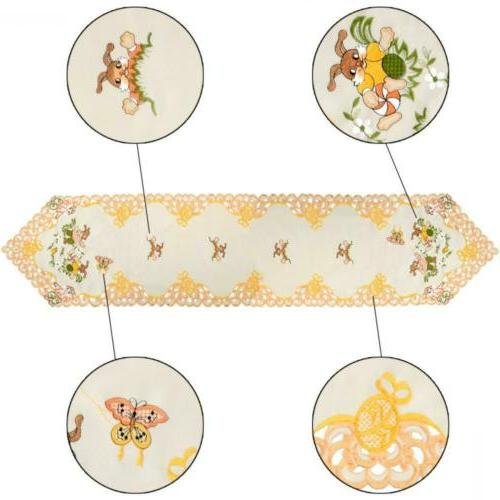 Grelucgo Beige Easter Table Linen, Inches