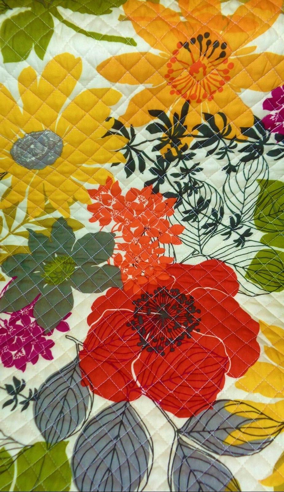 Better & Gardens Quilted Floral Fall Reversible Runner Table