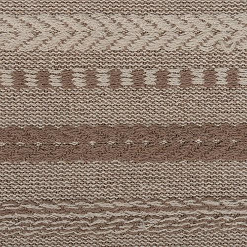 """DII Cotton Table Runner Spring, Fall Everyday Use, 15x108"""", Taupe"""
