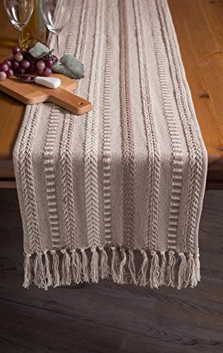 DII Braided Table Runner Everyday Stone