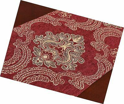 Grelucgo Damask Table Runners Dresser Scarves with