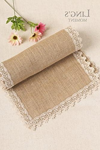 Ling's Runners 12 60 Inches Lace Rustic Barn Party Decoration