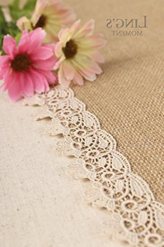 Ling's moment Runners 12 Inches Lace Hem, Rustic Barn Wedding Party