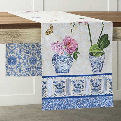 canton cotton table runner inch