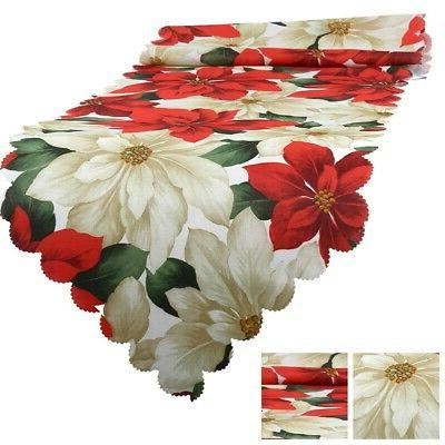 Christmas Table Floral Santa Home Kitchen Table US