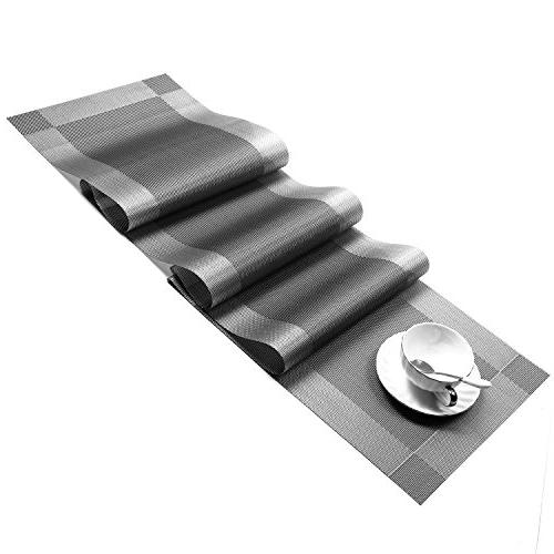 U'Artlines Compatible Table Runner, 1 Woven Table Runner Washable