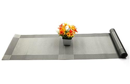 U'Artlines Placemats Runner, Crossweave Woven Table Washable