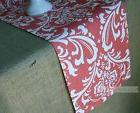 Coral Damask Floral Table Runner Kitchen Home Decor Linens T