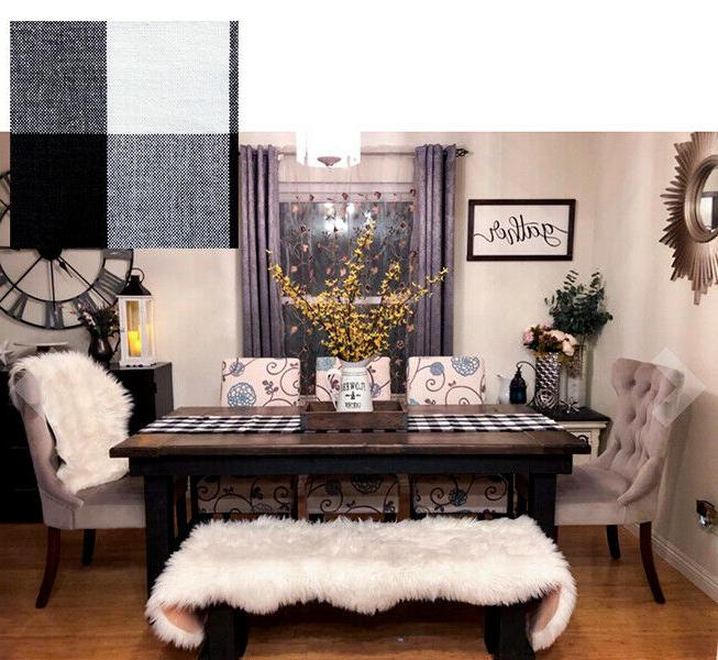 Dining Table Black White Placemat Entry Home