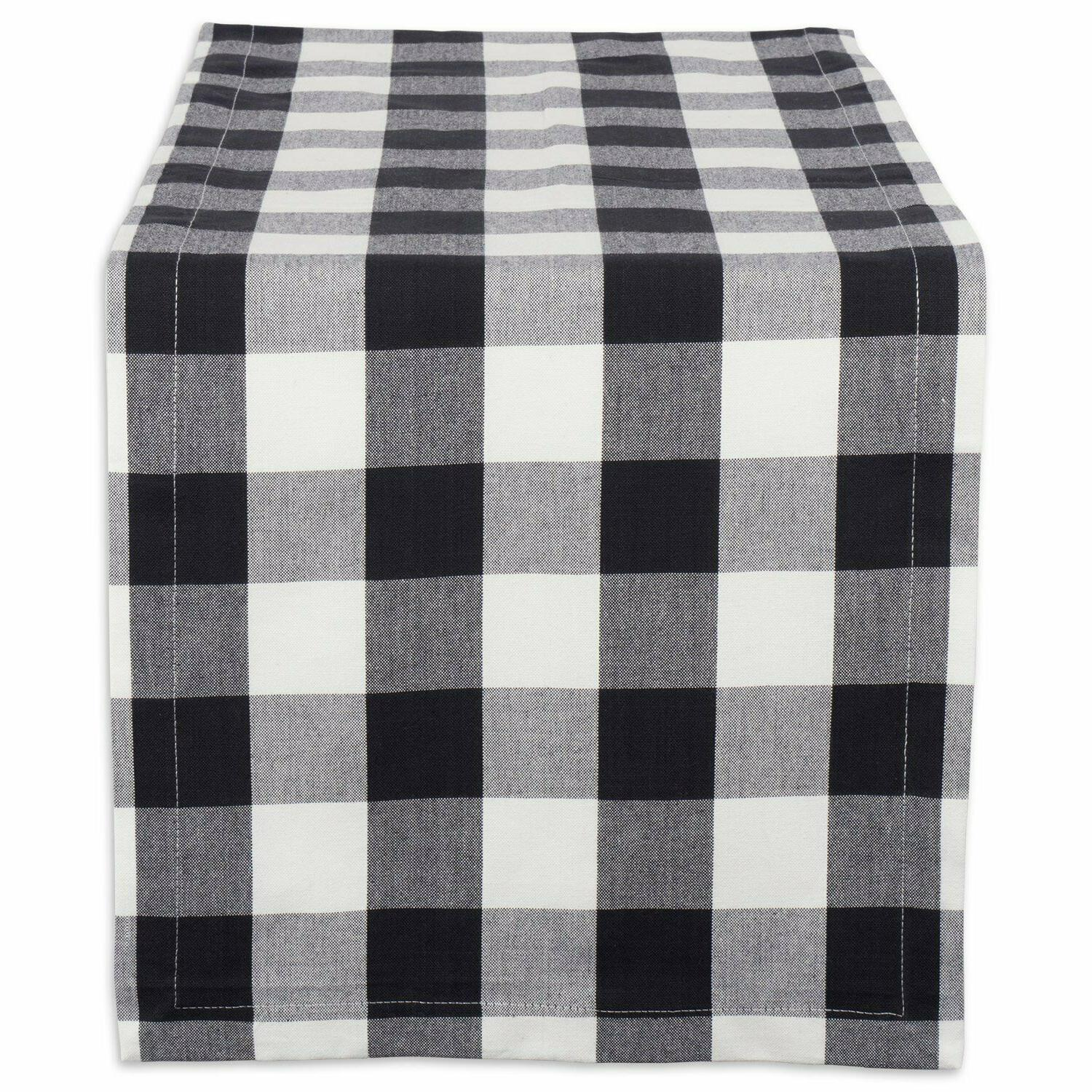 Cotton Buffalo Check Table Runner for Family Dinners