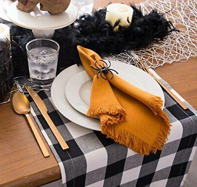 DII Cotton Buffalo Check Table Runner for Dinners Gatherings, o