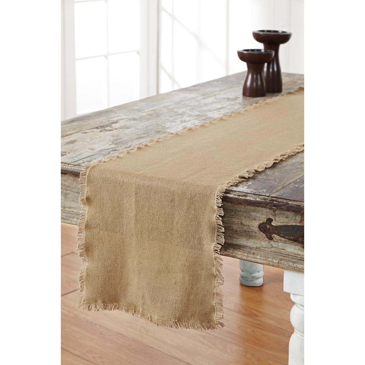 cotton burlap table runner choice of 4