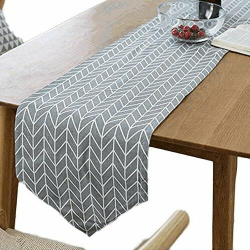 Cotton Runner Tablecloth Dining Table Decoration